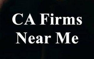 CA Firms Near Me